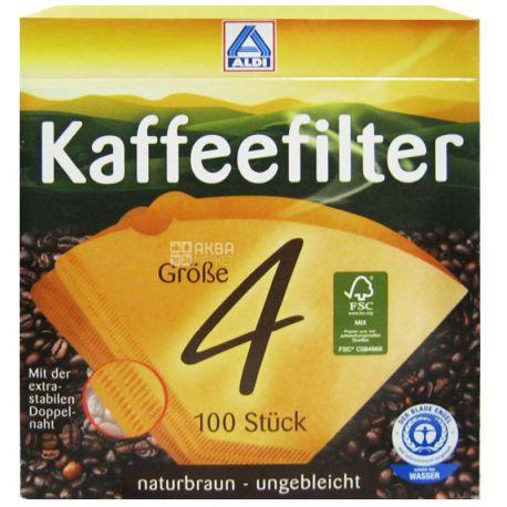ALDI, 100 шт., фильтр для кофеварок, №4, м/у