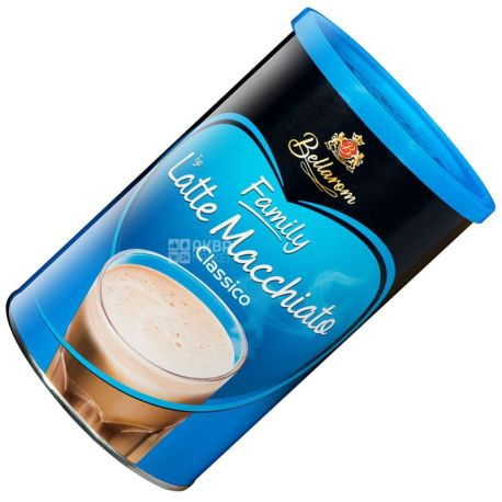 Bellarom, Latte Macchiato, 500 г, Белларом, Латте Макиато, кофейный напиток, растворимый, тубус