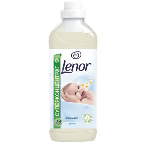 Lenor, 1 л, кондиционер для белья, Pure Care, Детский, ПЭТ