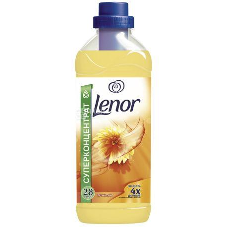 Lenor, 1 л, кондиціонер для білизни, Літній день, ПЕТ