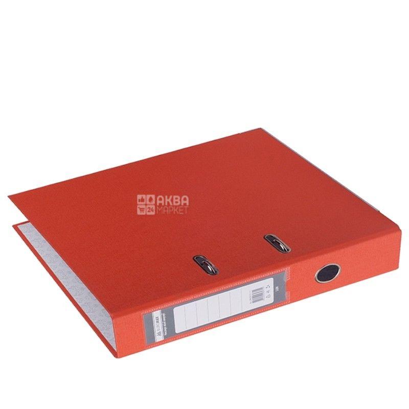 Buromax, 7 см, папка-регистратор, Двусторонняя, Красная, А4, м/у