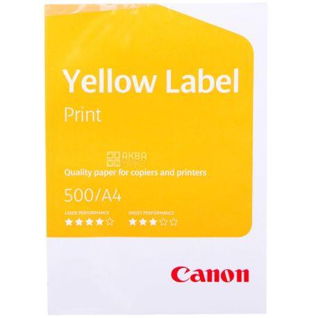 A4 Canon Yellow Label paper, 500 l , Class C, 80 g / m2