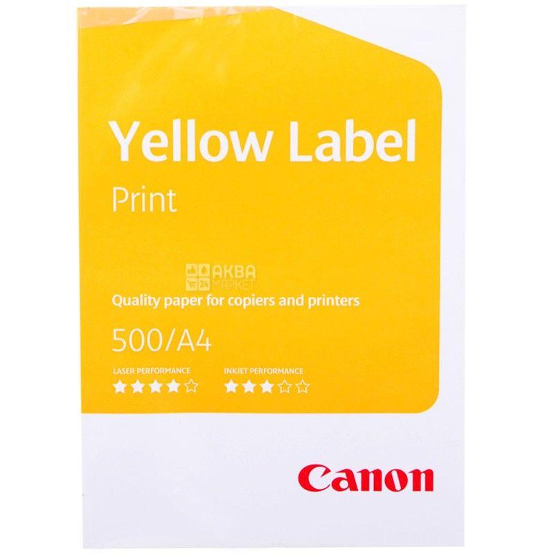 Бумага А4 Canon Yellow Label, 500 л., класс С, 80 г/м2