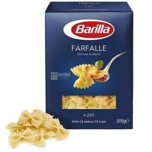 Barilla, 500 г, Макароны, Farfalle, картон