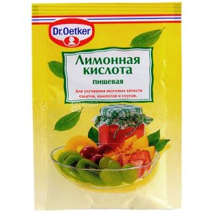Dr. Oetker, 8 g, citric acid, m / y