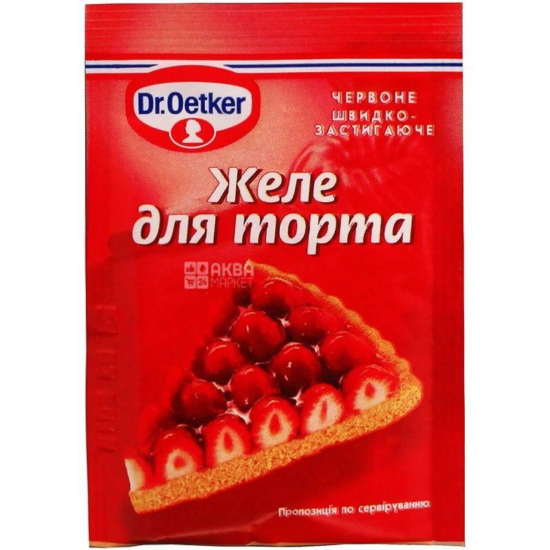 Dr.Oetker, 8 г, желе для торту, Червоне, м/у