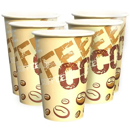 Coffee Coffee Стакан бумажный двухслойный С рисунком 400 мл, 50 шт, D80