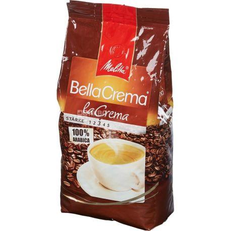 Melitta Bella Crema La Crema, 1 кг, Кофе Мелитта Белла Крема Ла Крема, средней обжарики, в зернах