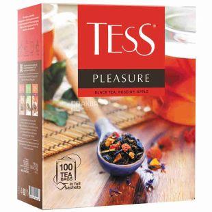 Tess, Pleasure, 100 пак., Чай Тесс, Плэжа, черный с шиповником и яблоком