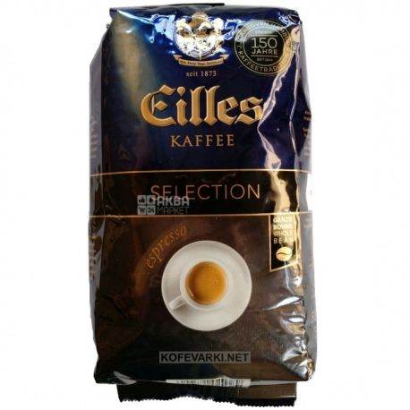 J.J. Darboven Eilles Espresso Selection, 500 г, Кава Дарбовен Елліс Еспрессо селекшн, середнього обсмаження, в зернах