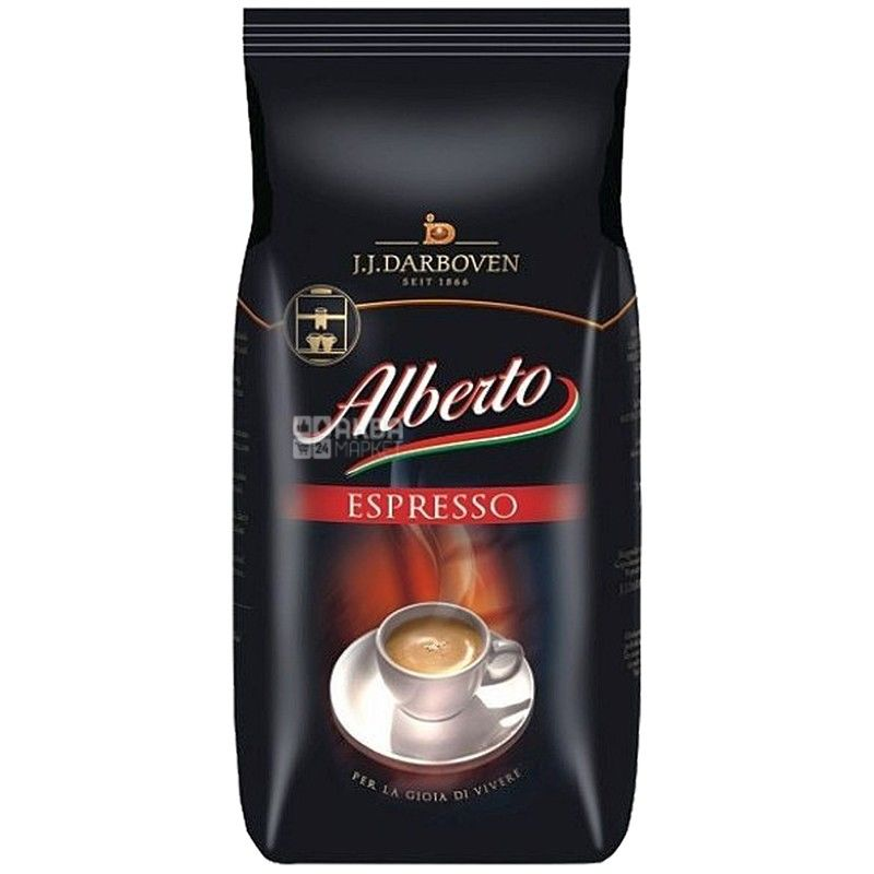 J.J. Darboven Alberto Espresso, 1 кг, Кава Дарбовен Альберто Еспрессо, середнього обсмаження, в зернах