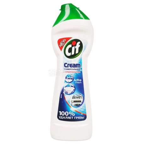 Cif, 250 ml, cleaning cream, Universal, Active Fresh, PET