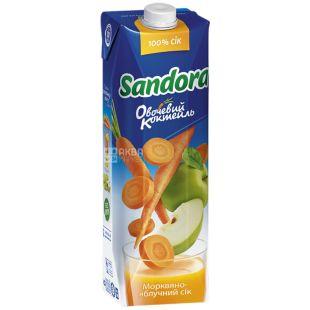 Sandora Овощной коктейль, 0,95 л, сок, Морковно-яблочный, м/у