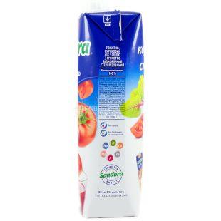 Sandora Овощной коктейль, 0,95 л, сок, Томатно-свекольный, м/у