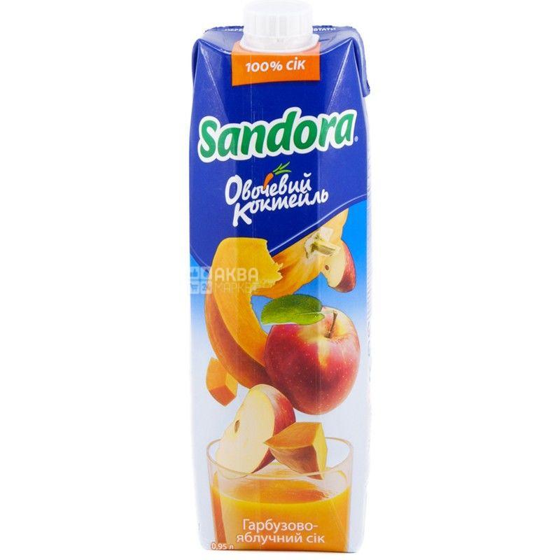 Sandora Овощной коктейль, Тыквенно-яблочный, 0,95 л, Сандора, Сок натуральный