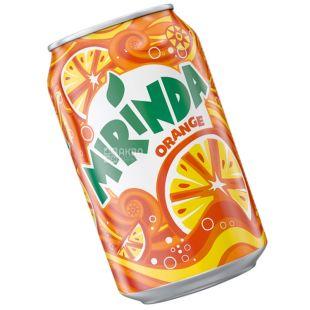 Mirinda, Orange, 0,33 л, Мірінда, Апельсин, Вода солодка, ж/б