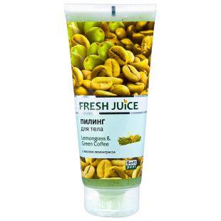 Fresh Juice, 200 мл, пилинг для тела, С маслом лемонграсса, ПЭТ