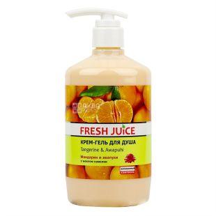 Fresh Juice, 750 мл, крем-гель для душа, Мандарин и авапухи, ПЭТ
