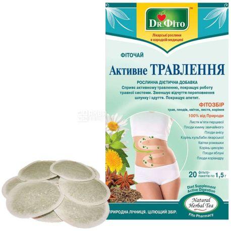 Dr. Фито, Активное пищеварение, 20 пак., Фиточай