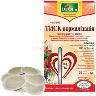 Dr. Phyto, 20 pcs., Herbal tea, Pressure normalization