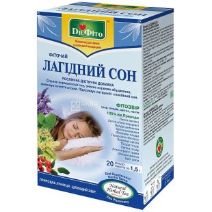 Dr. Phyto, 20 pcs., Herbal tea, Gentle sleep