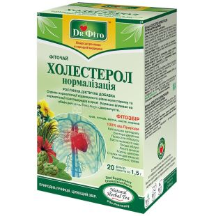 Dr. Phyto, 20 pcs., Herbal tea, Cholesterol normalization