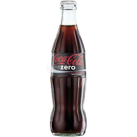 Coca-Cola Zero, 0,25 л, Кока-Кола Зеро, Вода сладкая, низкокалорийная, стекло
