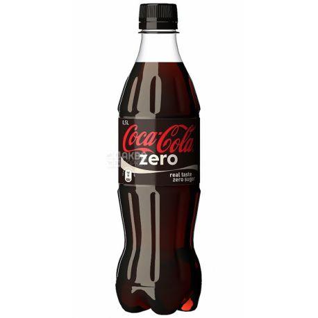 Coca-Cola Zero, 0,5 л, Кока-Кола Зеро, Вода сладкая, ПЭТ