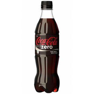 Coca-cola, 0,5 л, солодка вода, Zero, ПЕТ