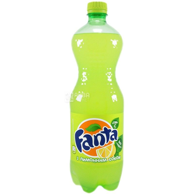 Fanta, Лимон, 0,5 л, Фанта, Вода солодка, з натуральним соком, ПЕТ