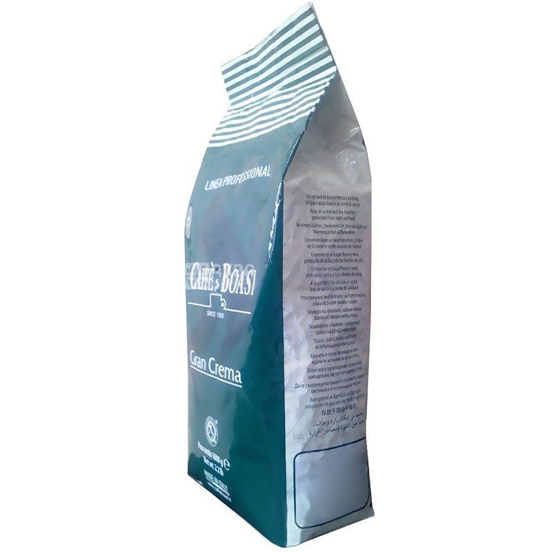Boasi, Gran Crema, 1 кг, Кофе Боаси, Гран Крема, темной обжарки, в зернах