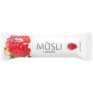 Tekmar, 30 g, a plate, Musly in yogurt, Strawberry, m / y