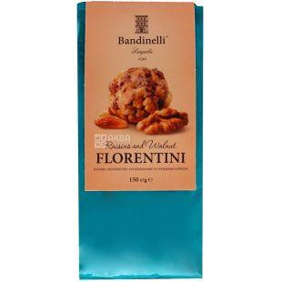 Bandinelli FLORENTINI, 150 г, печенье, С изюмом и грецкими орехами, м/у