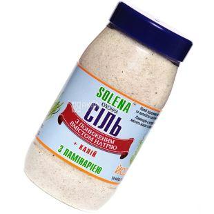 Solena, Соль кухонная с пониженным содержанием натрия и калия, С ламинарией, 700 г