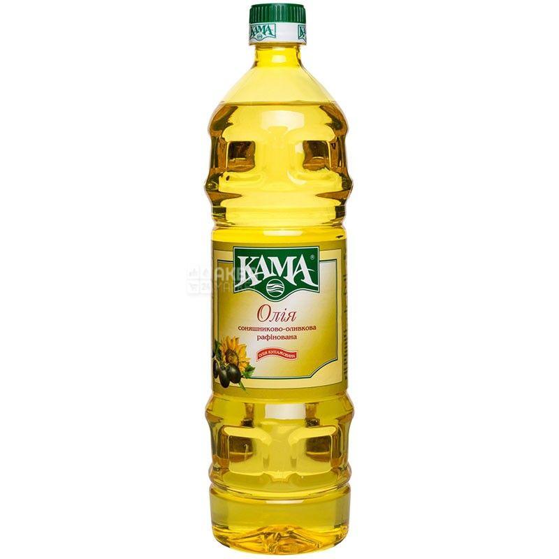 Кама, 900 г, олія, Соняшниково-оливкова, Рафінована, ПЕТ
