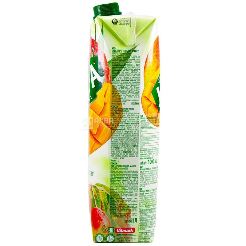 Jaffa, Premium nectar, Манго, 1 л, Джаффа, Нектар натуральный