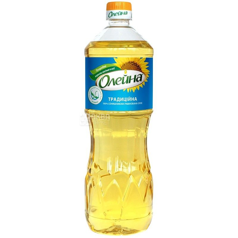 Oleina, 0,87 l, sunflower oil, Refined, Traditional, PET