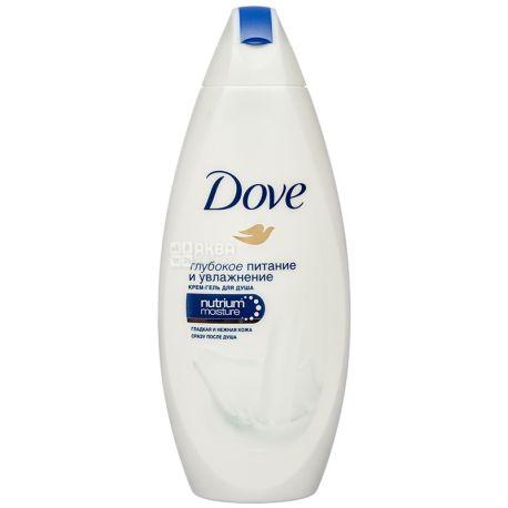 Dove, 250 мл, крем-гель для душу, Глибоке живлення і зволоження, ПЕТ