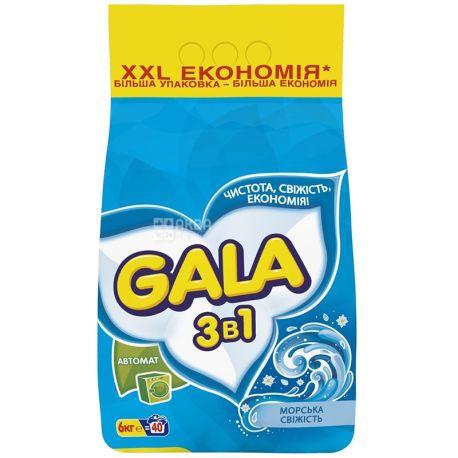 Gala, 6 кг, Стиральный порошок, Морская свежесть, Автомат