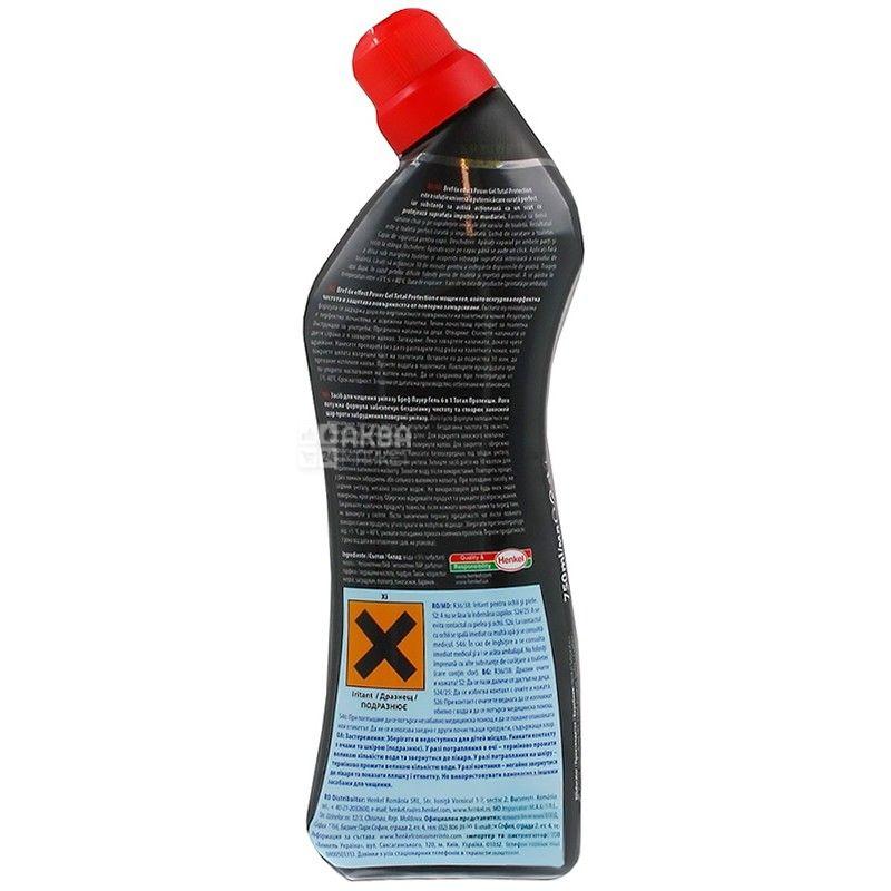 Bref, 750 мл, гель для чищення унітазу, 6x Effect Power Gel, Total Protection, ПЕТ