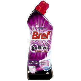 Bref, 750 мл, гель для чистки унитаза, 6x Effect Power Gel, Total Protection, ПЭТ