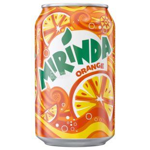Mirinda, Orange, 0,33 л, Миринда, Апельсин, Вода сладкая, ж/б