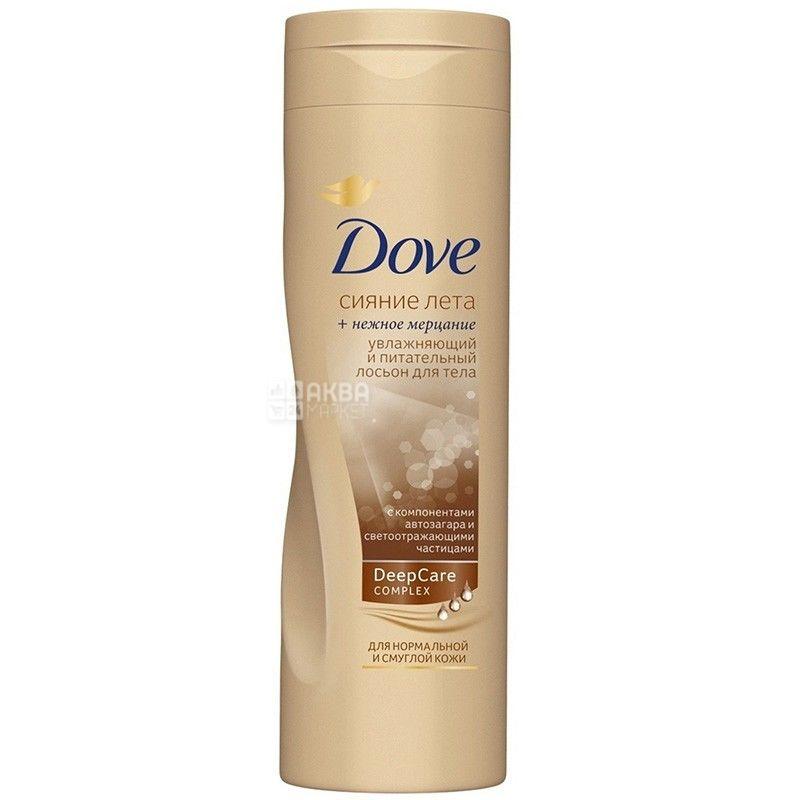 Dove, 250 мл, лосьон для тела, С эффектом автозагара, Сияние лета, ПЭТ