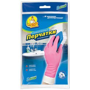Фрекен Бок, размер S, перчатки хозяйственные, Суперпрочные, м/у