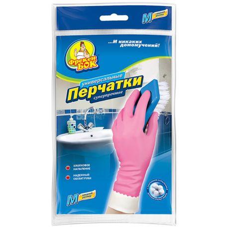 Фрекен Бок, размер M, перчатки хозяйственные, Суперпрочные, м/у