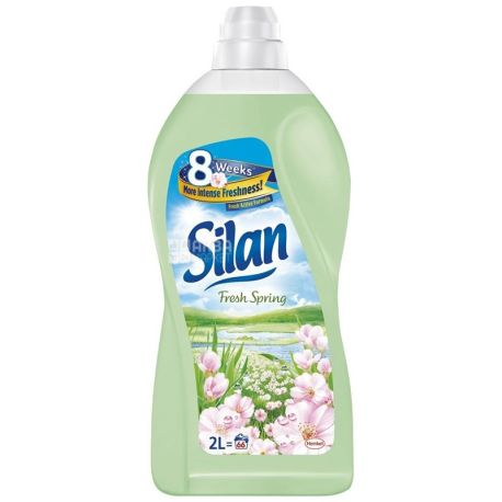 Silan, 2 л, ополаскиватель для белья, Весенняя свежесть, ПЭТ