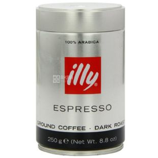 Illy, 250 г, Espresso, мелена кава, ж / б