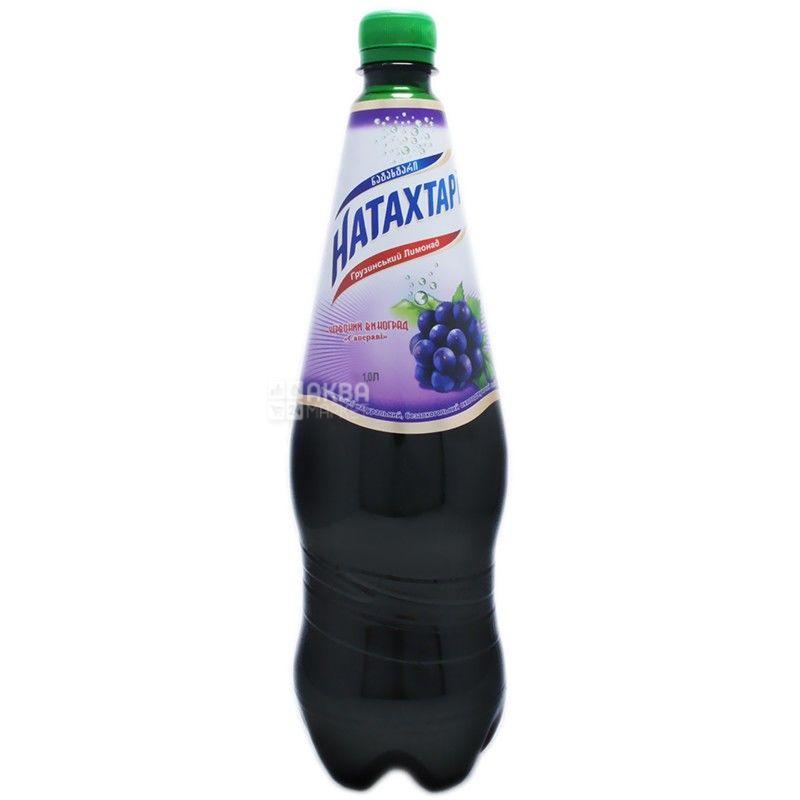 Натахтарі, Сапераві, 1 л, Лимонад зі смаком червоного винограду, ПЕТ