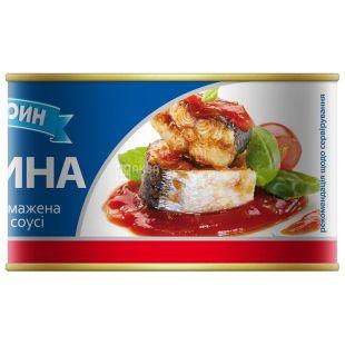 Aquamarine, 230 g, sardine fried, in tomato sauce, w / w