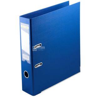 Buromax, 7 см, тека-реєстратор, Двостороння, Синя, А5, м/у